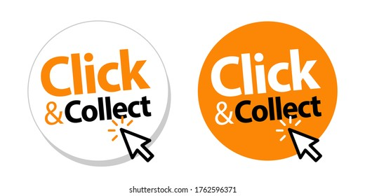 Click an collect with computer mouse pointer