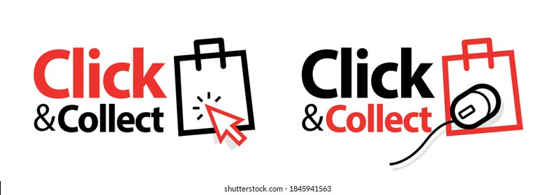 Click and collect with computer pointer or mouse