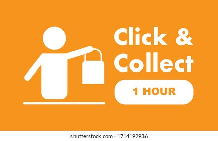 Click & Collect internet shopping consept
