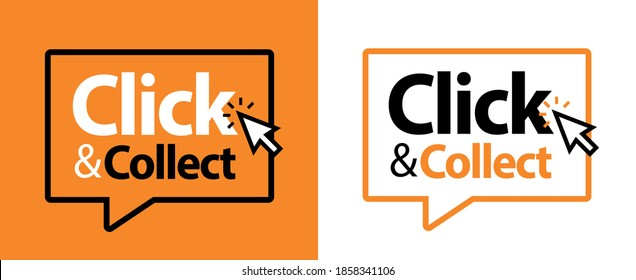 Click and collect on speech bubble
