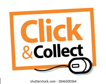 Click and collect stamp with computer mouse