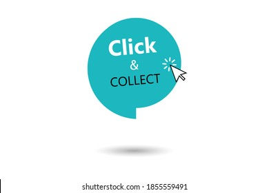 Click and collect vector icon.