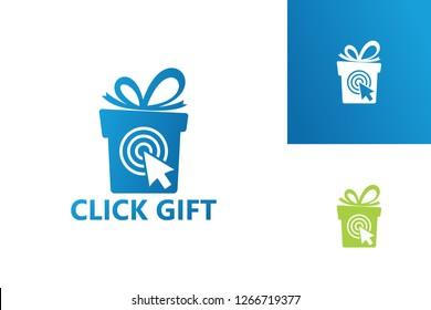 Click Gift Logo Template Design Vector, Emblem, Design Concept, Creative Symbol, Icon
