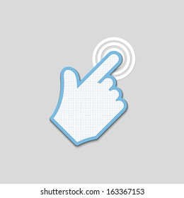 click. hand icon pointer textured. vector eps8