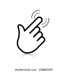 click. hand icon pointer. vector eps8
