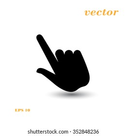 Click, Hand Icon, Touch Icon,  Pressing a Button, doorbell   ringing, hand pressing,