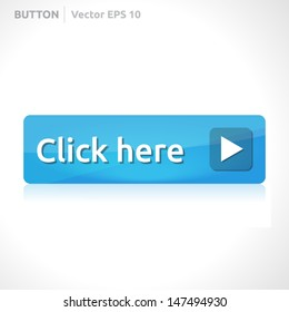 Click here button template | vector design eps | business banner with symbol icon | website element | web blue