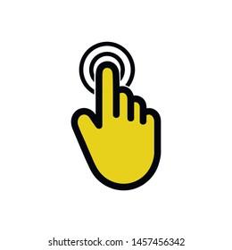 Click here flat vector icon. Logo Template vector icon illustration design