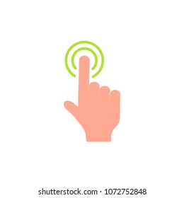 Click icon illustration vector symbol