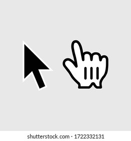 Click icon isolated on black background.Cursor symbol modern, simple, vector, icon for website design, mobile app, ui. Vector Illustration