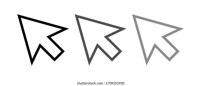 click icon stock vector illustration flat design.