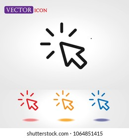 Click icon Vector, Cursor sign