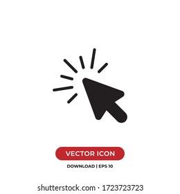 Click icon vector. Cursor sign