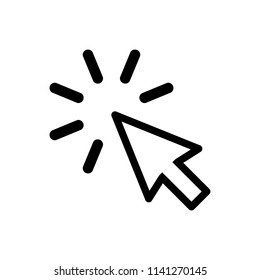 Click icon. Click vector. Mouse arrow cursor icon. Cursor icon in trendy flat style isolated on white background.