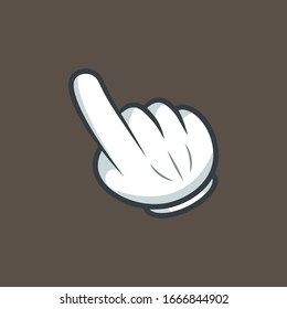 Click mouse icon in comic style. Pointer vector cartoon illustration on white isolated background. Hand push button business concept splash effect.