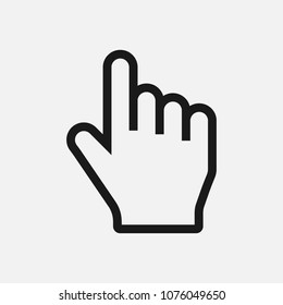Click, select icon, finger press, finger click, thumb symbol vector illustration for web and mobil app on grey background