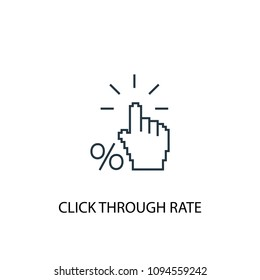 Click Through Rate line icon. Simple element illustration. Click Through Rate symbol design from Social Media Marketing collection. Can be used in web and mobile.
