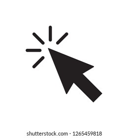 Clicking Cursor Pointer Icon Vector