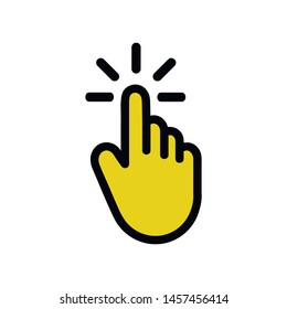 Clicking finger icon, hand pointer vector. Signs and symbol for websites, web design, mobile app on white background