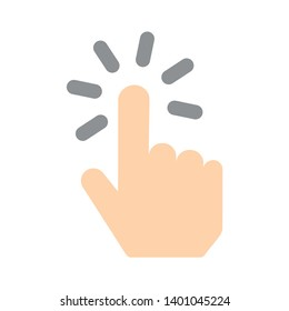Clicking finger vector icon. Hand Click filled flat sign for mobile concept and web design. Finger touch gesture glyph icon. Symbol, logo illustration. Pixel perfect vector graphics