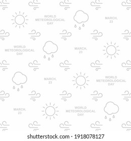 Climate pattern design. Easy to edit with vector file. Can use for your creative content. Especially about world meteorological day campaign in this march.