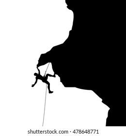 climber in rocks 03