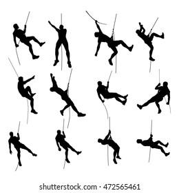 climber set silhouette 01