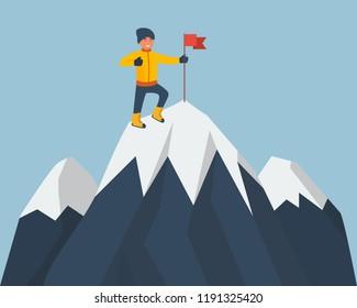 Cartoon Rock Climber Images Stock Photos Vectors Shutterstock