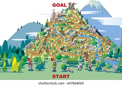 Climbing maze