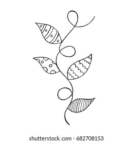 Climbing Plant for children's coloring pages. Vector illustration.
