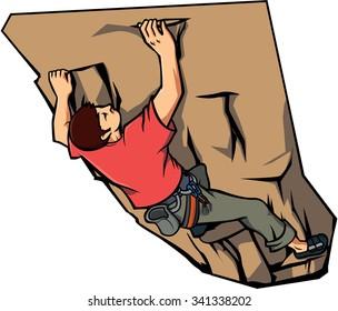 climbing wall Vector illustration design