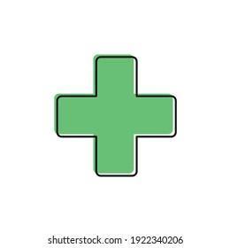clinic icon, hospital icon vector cross dsign