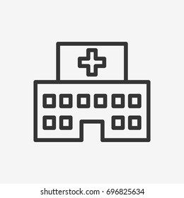 Clinic icon illustration isolated vector sign symbol