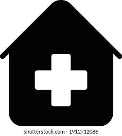 clinic vector glyph flat icon