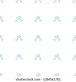 clink glasses icon pattern seamless white background. Editable line clink glasses icon. clink glasses icon pattern for web and mobile.