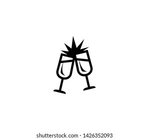 Clinking Glasses vector isolated flat illustration. Clinking Glasses icon