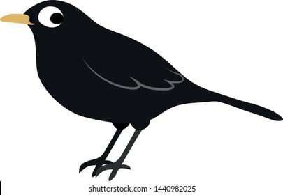 clip art blackbird vector graphic