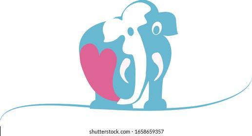 Clip art illustration of an elephant
