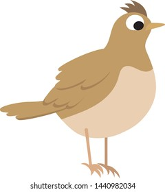 clip art skylark lark bird vector graphic