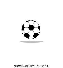 soccer ball black vector icon map stock vector royalty free