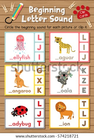 Clip cards matching game