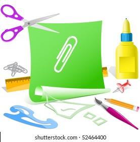 Clip. Vector paper template.