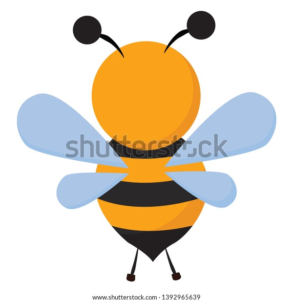 Clipart Bee Black Stripes On Brown Stock Vector Royalty Free 1392965639