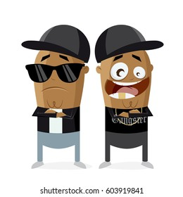 clipart of hip hop gangster rap crew