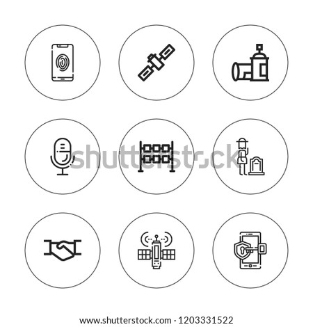 Clipart Icon Set Collection 9 Outline Stock Vector Royalty Free