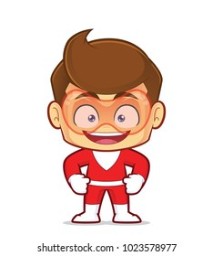 Clipart picture of a smiling superhero cartoon character