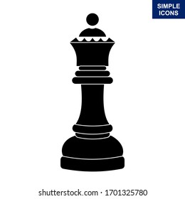 Cliparts Queen chess piece. Vector illustration.