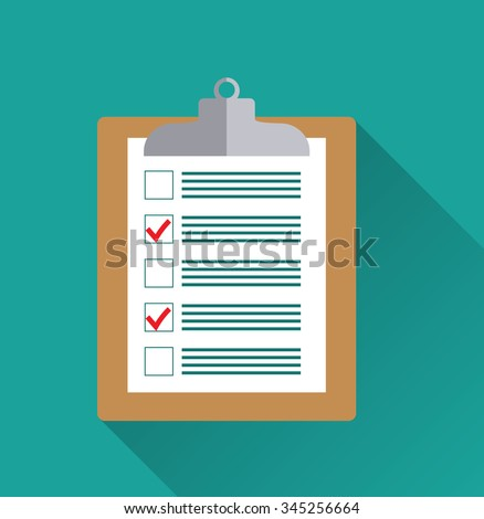 clipboard blank checklist form todo list stock vector royalty free