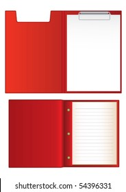 Clipboard with blank end notebook