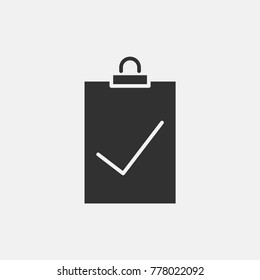 Clipboard check icon illustration isolated vector sign symbol